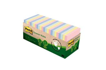 3M 70007024972 Post-it Notes 654R-24CP-AP Recycled Cabinet Pack Helsinki 76x76mm 75 sheet pads