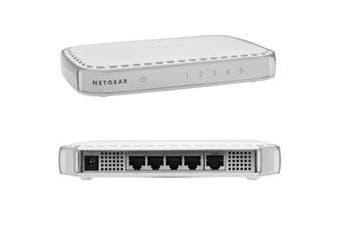 NETGEAR GS605 5 PORT GIGABIT SWITCH 5x10/100/1000 Mbps Giga bit Ethernet Switch