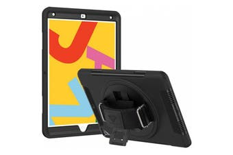 """Armor-X (RIN Series ) Ultra 3 Layers Rainproof Shockproof Rugged Case with Hand Strap for iPad 10.2"""""""