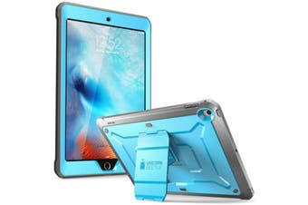 "SUPCASE Unicorn Beetle Pro Full Body Rugged Case for iPad 10.2""  7th Gen.  -Blue with integrated"