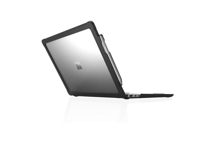 """STM Dux Case for Microsoft Surface Laptop 3 &  2  13.5"""" - Black /Clear"""