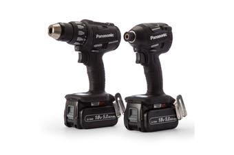 Panasonic EYC217LJ2G57 Hammer Drill & Impact Driver 18V Lithium Ion 5Ah Dual Voltage Combo Kit