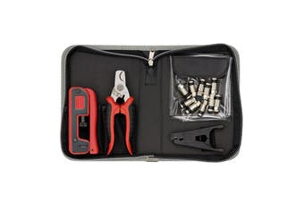 Sprotek STK-6925 13 Piece Compression Crimp Tool Kit. Included in kit - All Purpose Snip