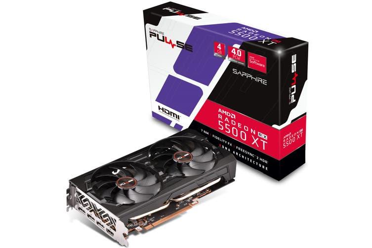 Sapphire Radeon PULSE RX 5500 XT Graphics Card 4GB GDDR6