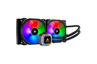 Corsair Hydro Series H115i RGB PLATINUM Liquid CPU Cooler 280mm radiator and vivid RGB lighting
