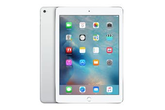 As New Apple iPad Air 2 Wi-Fi + Cellular 128GB Silver (Refurbished)