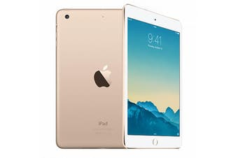 Apple iPad Mini 3 (Wifi + Cellular) 128GB Gold -  Excellent Condition (Refurbished)