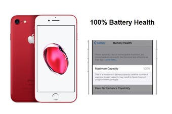 Apple iPhone 7 128GB Red - Battery Health 100% - Excellent Condition (Refurbished)