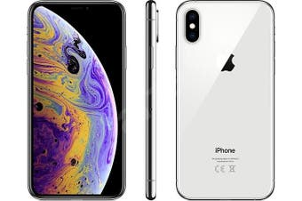 As New Apple iPhone XS 256GB Silver (Refurbished) - Bonus Free Case + Screen Protector