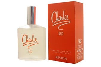Charlie Red by REVLON for Women (100ML) Eau de Toilette-BOTTLE