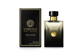 Versace Pour Homme Oud Noir by VERSACE for Men (100ML) Eau de Parfum-BOTTLE