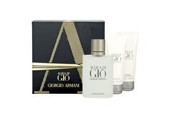 Acqua Di Gio 3 Piece by GIORGIO ARMANI for Men (100ML) -GIFT SET