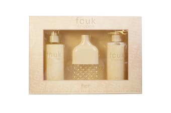 Friction 3 Piece by FCUK for Women (100ML) -GIFT SET