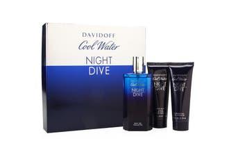 Cool Water Night Dive 3 Piece by DAVIDOFF for Men (125ML) Eau de Toilette-GIFT SET