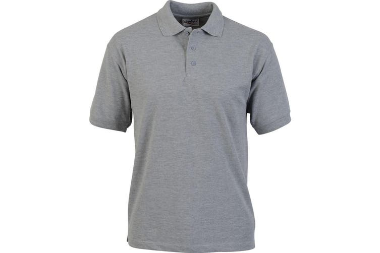 Absolute Apparel Adults Atlas Pique Polo (Sport Grey) (2XL)