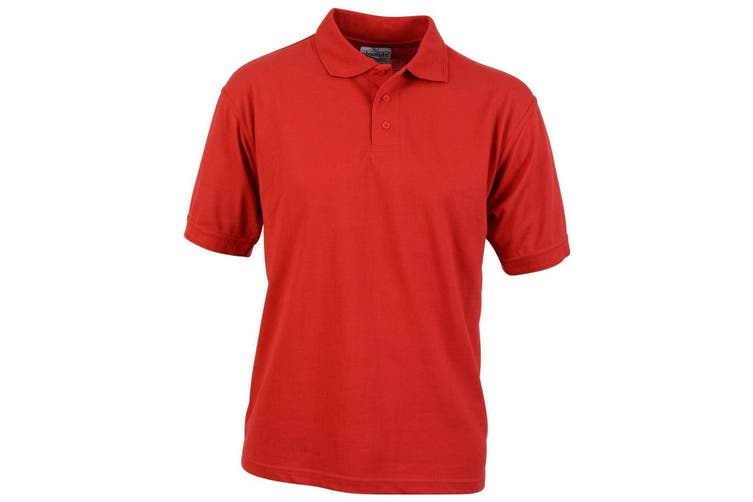 Absolute Apparel Adults Atlas Pique Polo (Red) (XL)