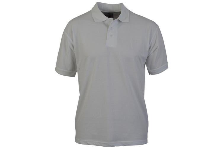 Absolute Apparel Adults Atlas Pique Polo (White) (XL)