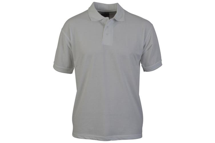 Absolute Apparel Adults Atlas Pique Polo (White) (L)