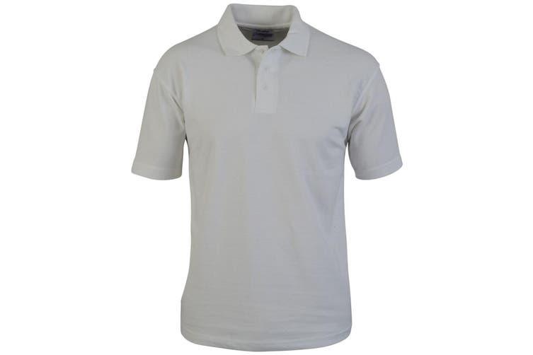 Absolute Apparel Mens Hallmark Polo (White) (4XL)
