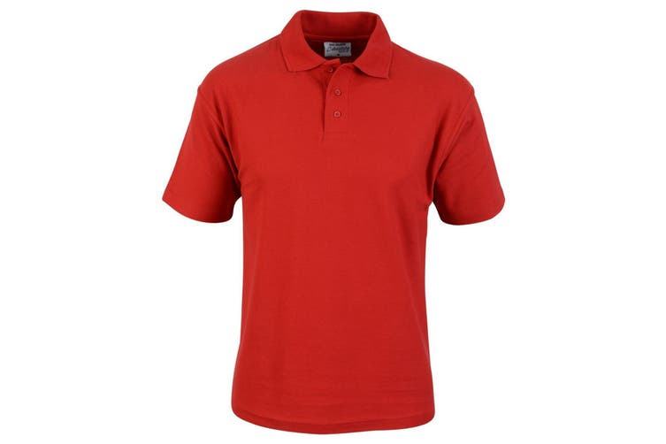 Absolute Apparel Mens Hallmark Polo (Red) (2XL)
