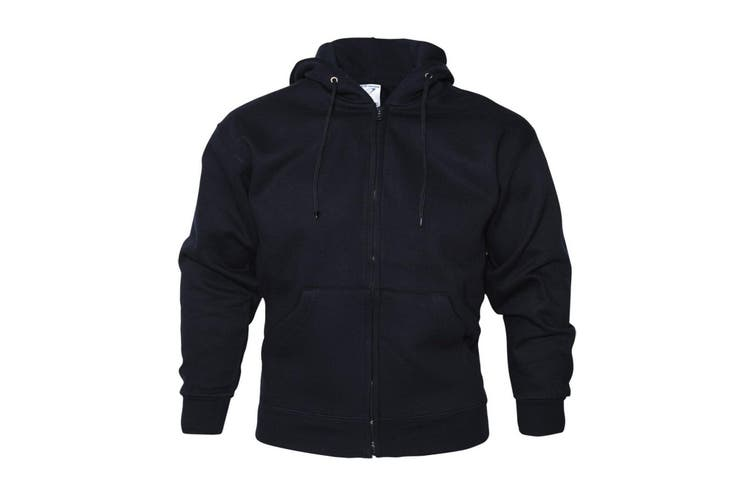 Absolute Apparel Mens Zip Thru Hood (Navy) (S)