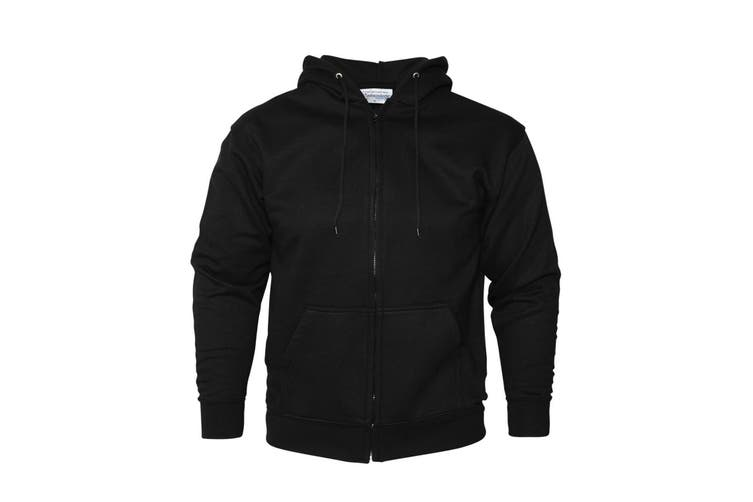 Absolute Apparel Mens Zip Thru Hood (Black) (2XL)
