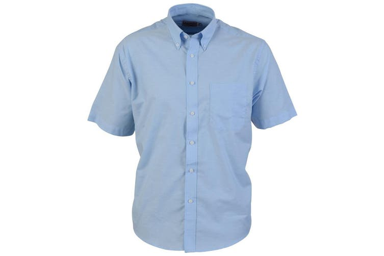 Absolute Apparel Mens Short Sleeved Oxford Shirt (Light Blue) (M)