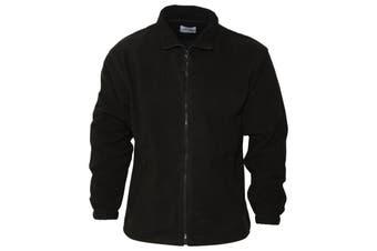 Absolute Apparel Heritage Full Zip Fleece (Black) (4XL)