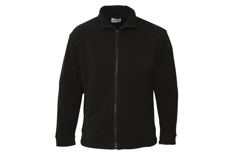 Absolute Apparel Mens Brumal Full Zip Fleece (Black Opal) (XL)