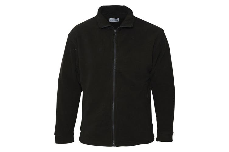 Absolute Apparel Mens Brumal Full Zip Fleece (Black) (S)