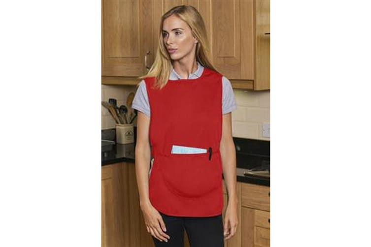 Absolute Apparel Adults Workwear Tabard With Pocket (Red) (XL)