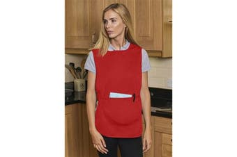 Absolute Apparel Adults Workwear Tabard With Pocket (Red) (M)