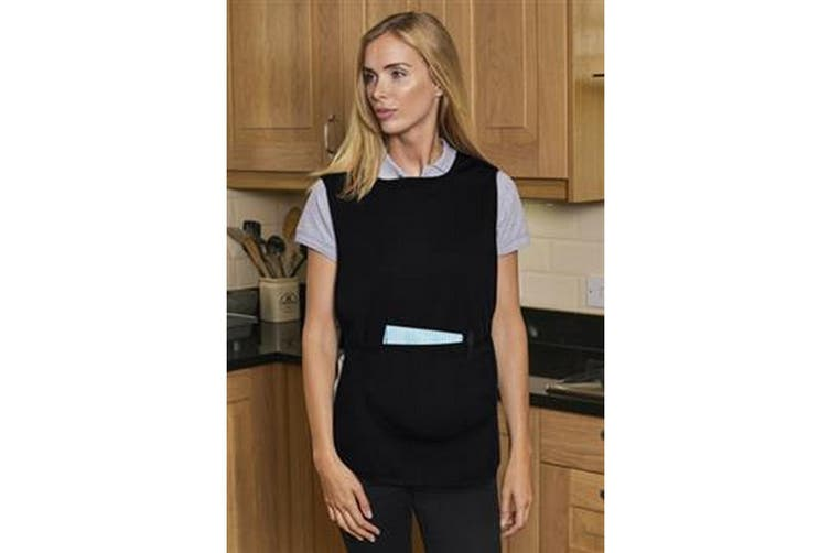 Absolute Apparel Adults Workwear Tabard With Pocket (Black) (XL)