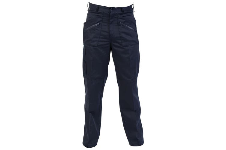 Absolute Apparel Mens Action Workwear Trousers (Navy) (44 inches long)