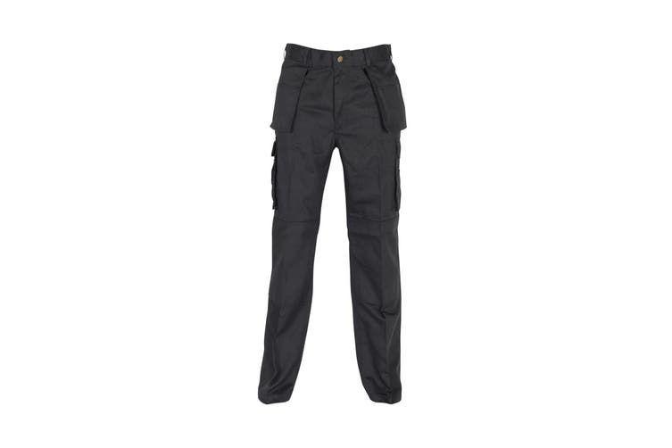 Absolute Apparel Mens Workwear Utility Cargo Trouser (Black) (34S)