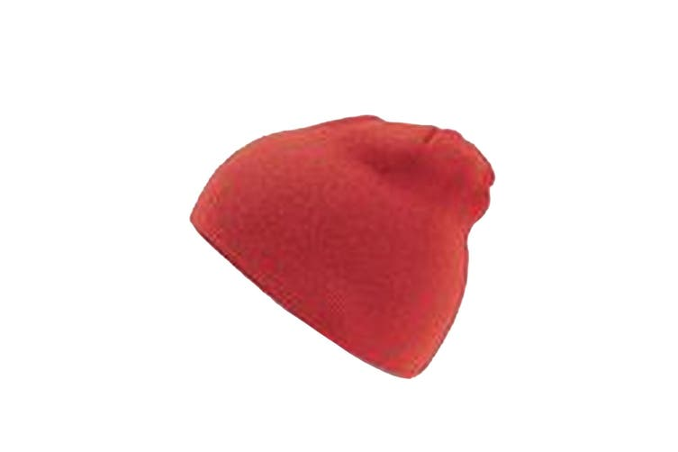 Absolute Apparel Adults Cap Knitted Ski Hat Without Turn Up (Red) (One Size)
