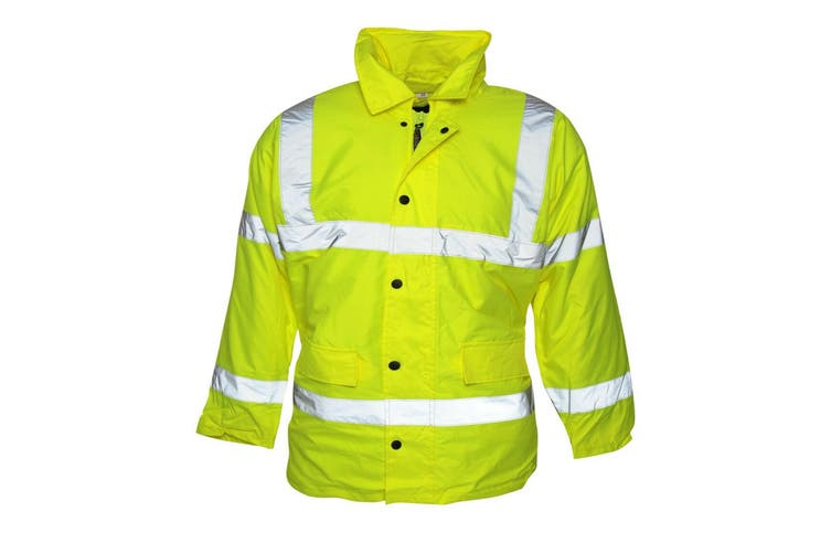 Absolute Apparel Mens Hi Viz Jacket (Saturn Yellow) (XL)