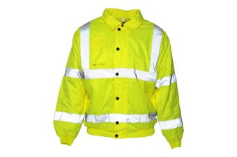 Absolute Apparel Mens Hi Viz Bomber Jacket (Saturn Yellow) (L)