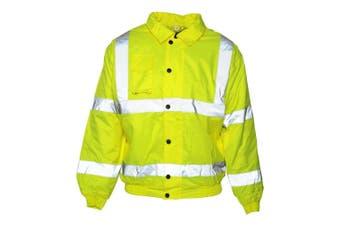 Absolute Apparel Mens Hi Viz Bomber Jacket (Saturn Yellow) (M)