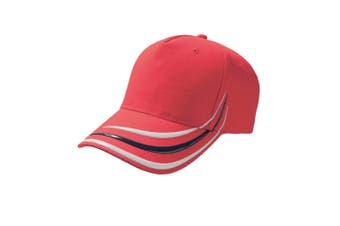 Atlantis Alien 5 Panel Baseball Cap (Red) (One Size)