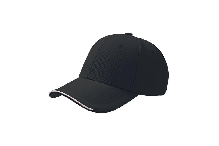 Atlantis Estoril Jacquard Weave 6 Panel Cap (Black) (One Size)