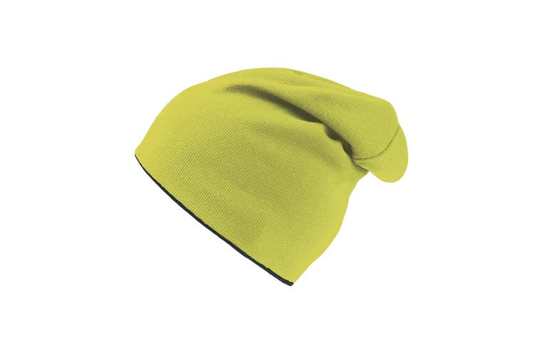 Atlantis Extreme Reversible Jersey Slouch Beanie (Safety Yellow/Black) (One Size)