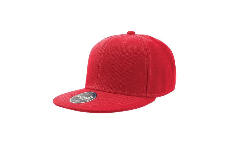 Atlantis Children/Kids Flat Visor 6 Panel Snap Back Cap (Red) (One Size)