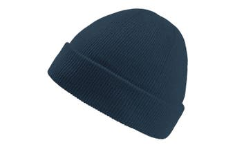 Atlantis Wind Childrens/Kids Double Skin Beanie With Turn Up (Navy) (One Size)