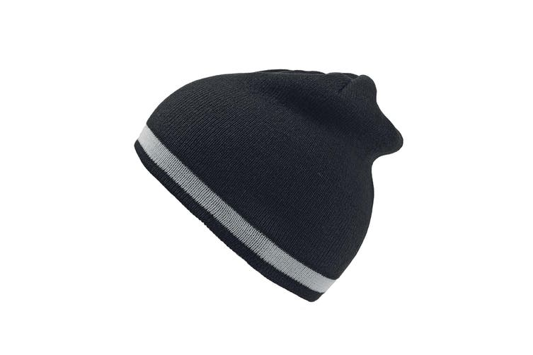 Atlantis Moover Double Skin Beanie Without Turn Up (Black/Grey) (One Size)