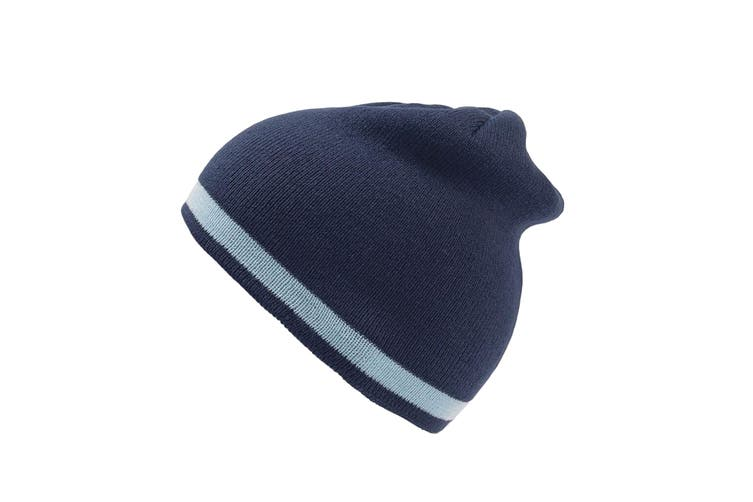 Atlantis Moover Double Skin Beanie Without Turn Up (Navy/Light Blue) (One Size)