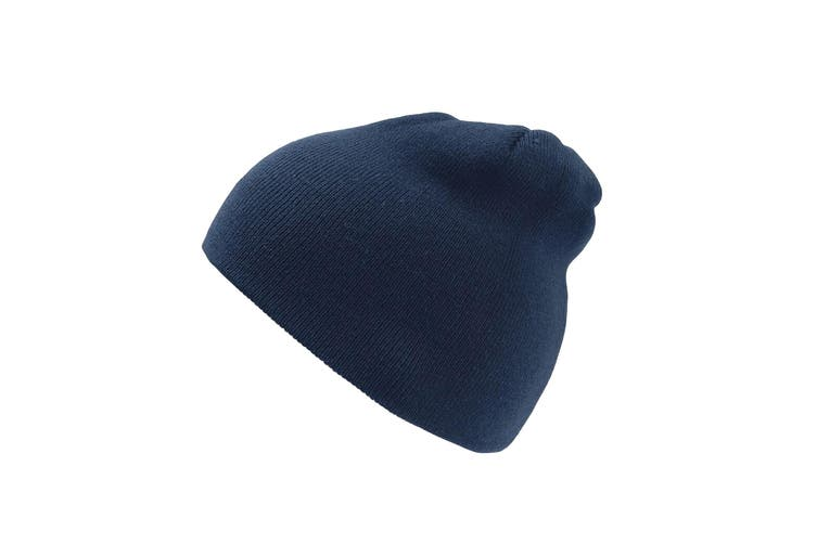 Atlantis Moover Double Skin Beanie Without Turn Up (Navy/Navy) (One Size)