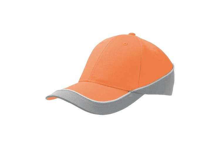 Atlantis Racing Teamwear 6 Panel Cap (Orange/Grey) (One Size)