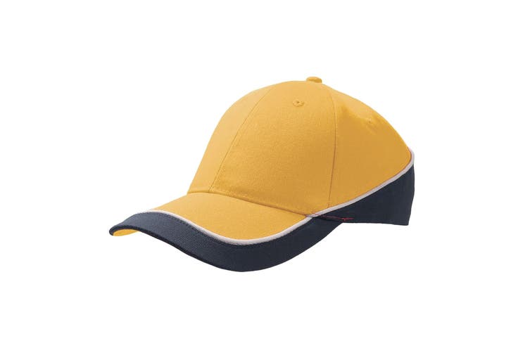 Atlantis Racing Teamwear 6 Panel Cap (Yellow/Navy) (One Size)