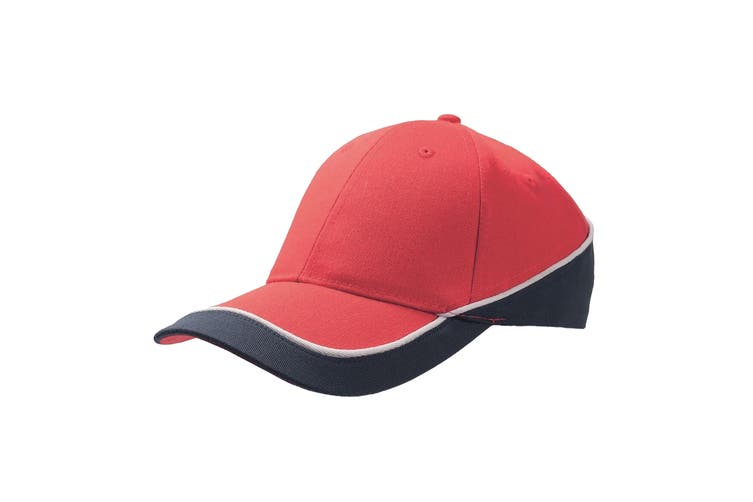 Atlantis Racing Teamwear 6 Panel Cap (Red/Navy) (One Size)